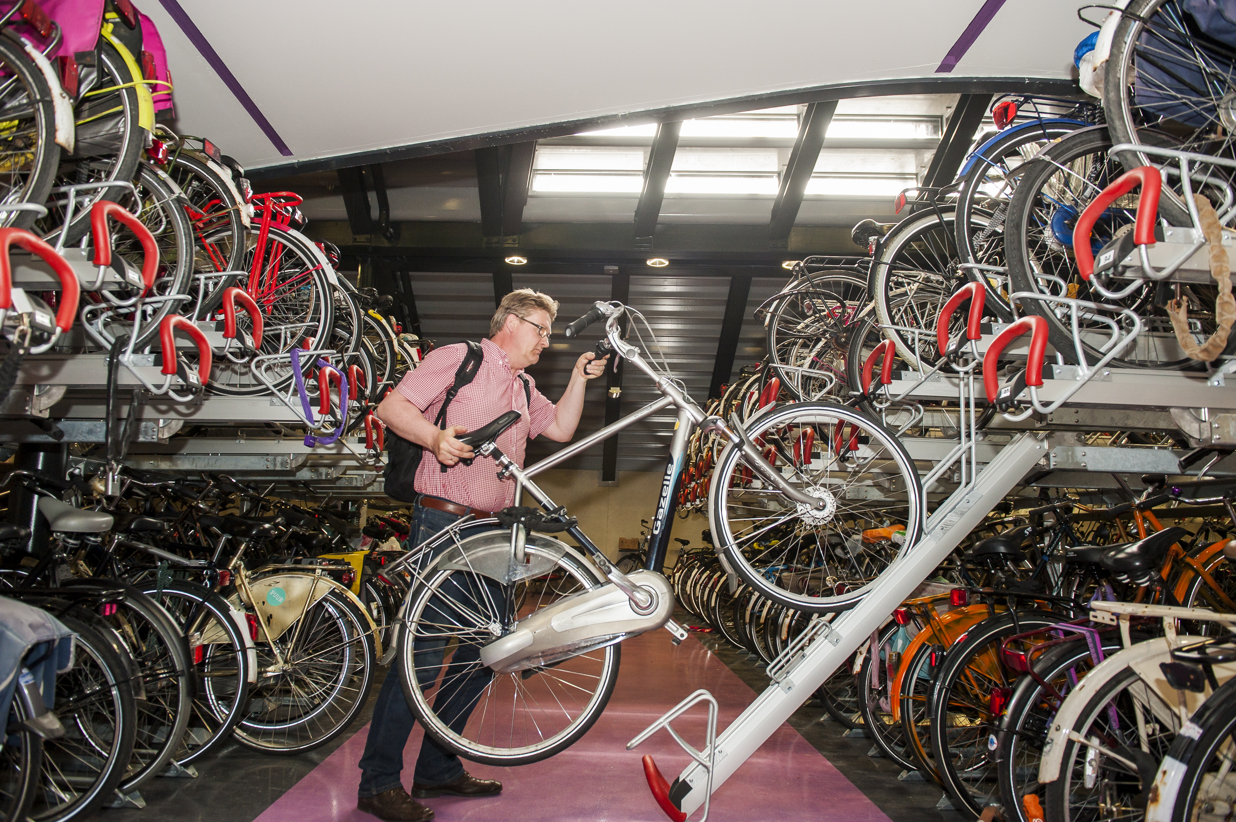 Bicycle parking at Utrecht Station